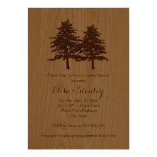 Wood & trees brown woodland wedding couples shower 5