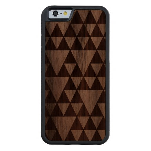 Wood triangles carved® walnut iPhone 6 bumper