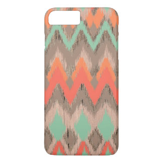 Wood tribal aztec chevron zig zag ikat pattern iPhone 7 plus case