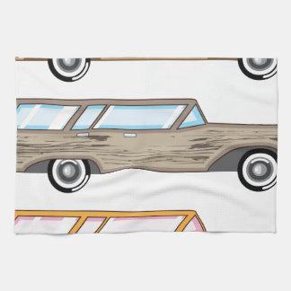 wood trim station wagon hand towel