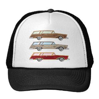 wood trim station wagon trucker hat
