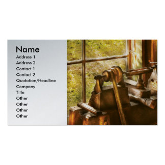 Wood Turner - An Old Lathe Double-Sided Standard Business Cards (Pack Of 100)