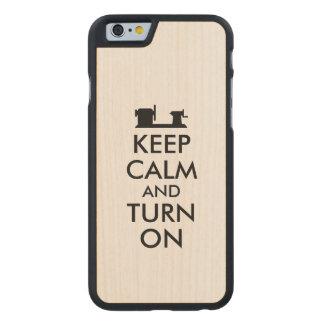 Wood Turning Wood Phone Case Keep Calm and Turn On