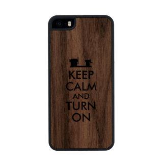 Wood Turning Wooden iPhone 5s Case Keep Calm Lathe
