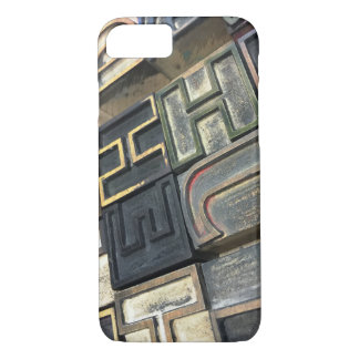 Wood type outline letters iPhone 7 case