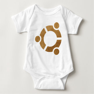 Wood Ubuntu Logo - Linus Baby Bodysuit