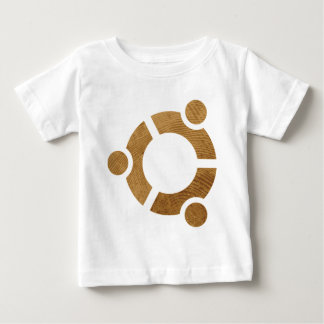 Wood Ubuntu Logo - Linus Baby T-Shirt