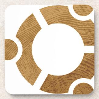 Wood Ubuntu Logo - Linus Beverage Coaster