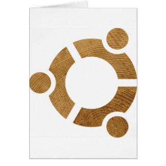 Wood Ubuntu Logo - Linus
