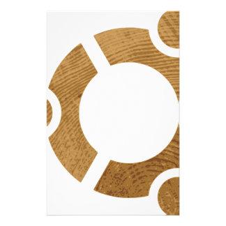 Wood Ubuntu Logo - Linus Stationery