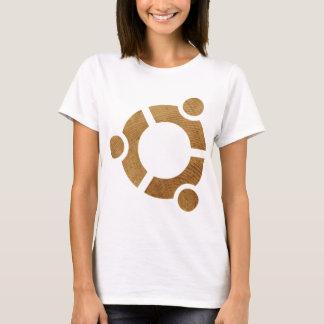 Wood Ubuntu Logo - Linus T-Shirt