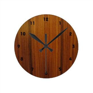 wood veneer dial round wall clocks