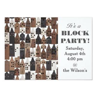 Wood village party invitation