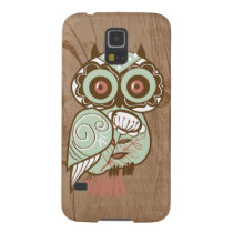 Wood Vintage Owl Galaxy S5 Case
