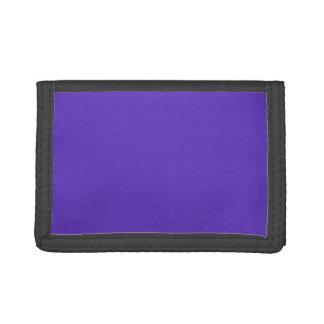 Wood Violet Purple 2015 Trend Color Template Trifold Wallets