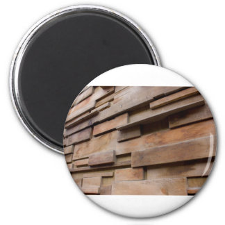 Wood Wall 2 Inch Round Magnet