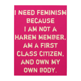 Wood Wall Art - Feminist Quotes - Famous