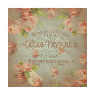Wood Wall Art vintage floral historical french