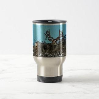 Wood wall monster buck coffee mug