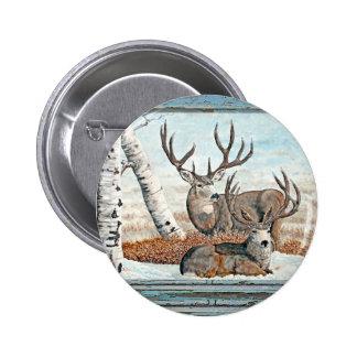 Wood wall painted bucks button