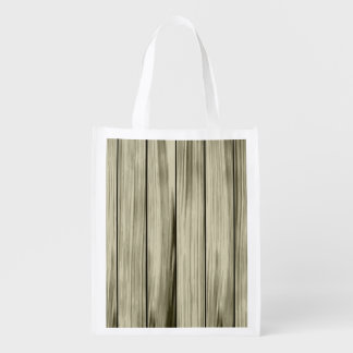 Wood wall texture grocery bag