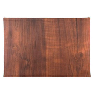Wood WALNUT finish BUY BLANK Blanc Blanche + TEXT Cloth Placemat