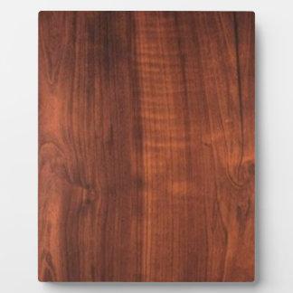 Wood WALNUT finish BUY BLANK Blanc Blanche + TEXT Plaque