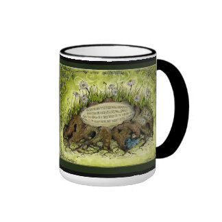 Wood Wedding Anniversary : Jupigio-Artwork.com Ringer Coffee Mug