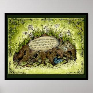 Wood Wedding ANniversary : Jupigio-Artwork.com Poster
