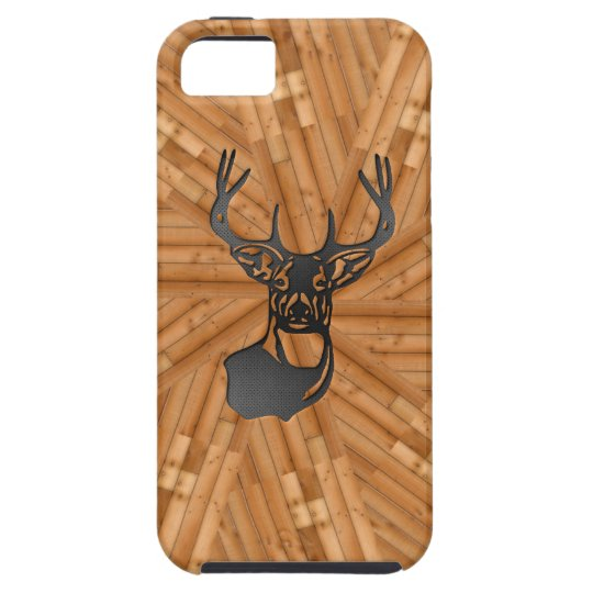 Wood - White Tail Buck Deer iPhone SE/5/5s Case