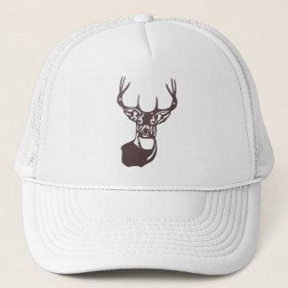Wood - White Tail Buck Deer Trucker Hat
