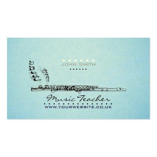 Wood wind Musician Music Teacher Business Card v2