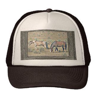 Wood window horses 2 trucker hat