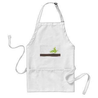 Wood with green leaf adult apron