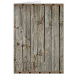 Wood with Iron Borders Background Greeting Card