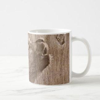 Wood Wolf Pup Art Mugs