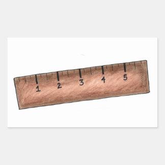 Wood Wooden Ruler School Math Teacher Stickers
