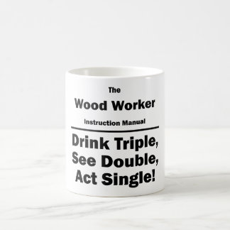 wood worker coffee mug