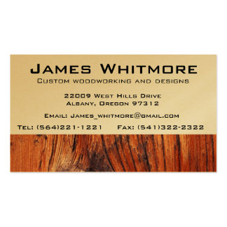 Wood working Cabinet Construction Double-Sided Standard Business Cards (Pack Of 100)