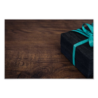 Wood Wrapped Present Poster
