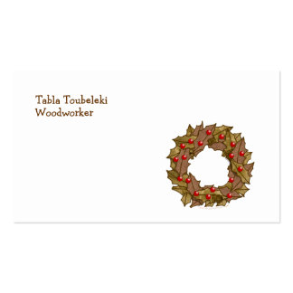 Wood Wreath Double-Sided Standard Business Cards (Pack Of 100)