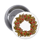 Wood Wreath Buttons