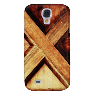 Wood X in Old Shed Wooden Door Samsung Galaxy S4 Covers