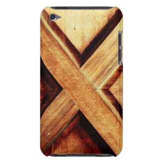 Wood X in Old Shed Wooden Door iPod Touch Case-Mate Case