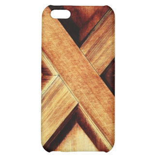 Wood X in Old Shed Wooden Door Cover For iPhone 5C