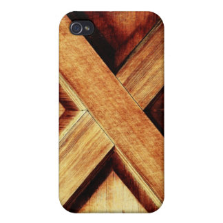 Wood X in Old Shed Wooden Door Covers For iPhone 4