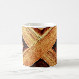 Wood X in Old Shed Wooden Door Magic Mug