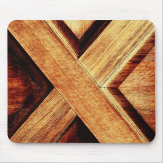 Wood X in Old Shed Wooden Door Mouse Pads