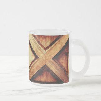 Wood X in Old Shed Wooden Door Mug