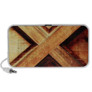 Wood X in Old Shed Wooden Door Portable Speaker
